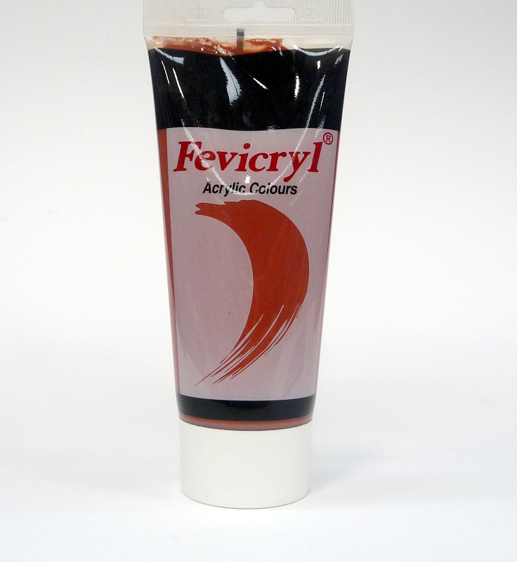 FEVICRYL ACRYLIC COLOUR 200ML - BURNT SIENNA