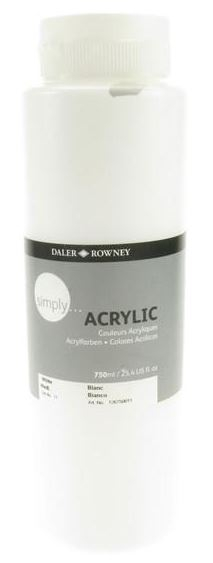 DALER SIMPLY ACRYLIC 750ML - WHITE