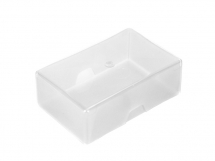 PLASTIC BUSINESS CARD BOX 90 x 60 x 35mm EMBELLISHMENT