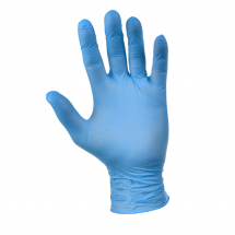 BLUE NITRILE POWDERFREE MEDIUM SIZE GLOVES BOX OF 200
