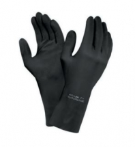 ANSELL EXTRA PROTECTION BLACK LATEX GLOVES MEDIUM 0187-950
