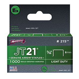 JT21 STAPLES 8mm BOX OF 1000