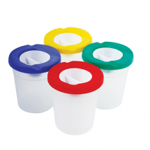 NON SPILL PAINT POT WITH LID AND STOPPER