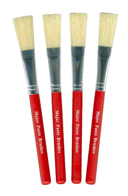 RED HANDLE PASTE BRUSH - 1/2inch