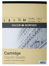 DR SMOOTH CARTRIDGE GUMMED A2 PAD 130gsm YELLOW