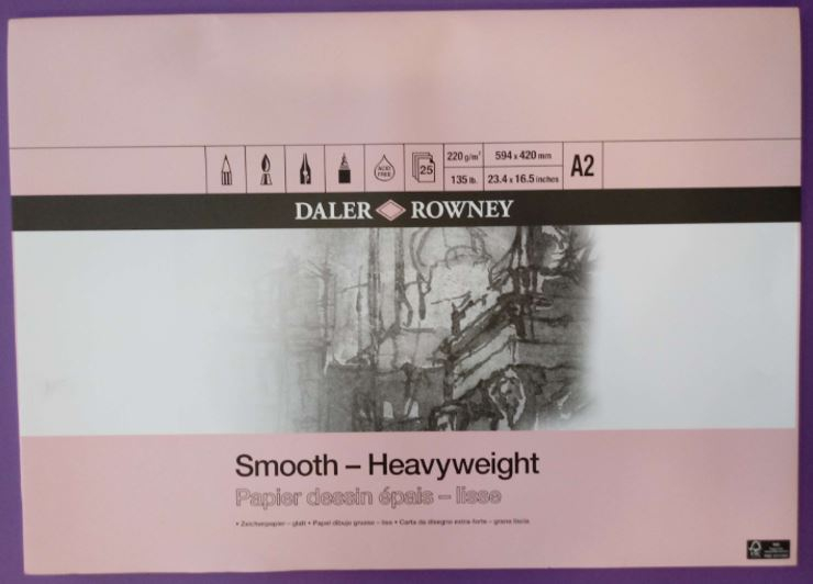 DR HEAVYWEIGHT GUMMED PAD A2 220gm CARTRIDGE PAPER