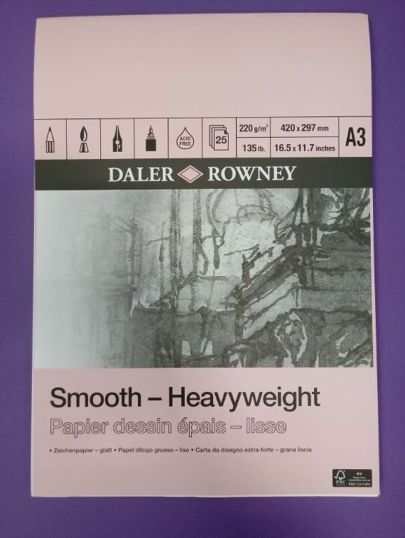DR HEAVYWEIGHT GUMMED PAD A3 220gm CARTRIDGE PAPER