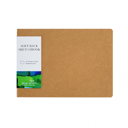 SOFTBACK SEWN SKETCH BOOK A5 L'SCAPE 40pp 150g NATURAL