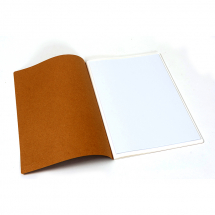 SOFTBACK SEWN SKETCH BOOK 150g OVERSIZED A4 40p NATURAL COVER