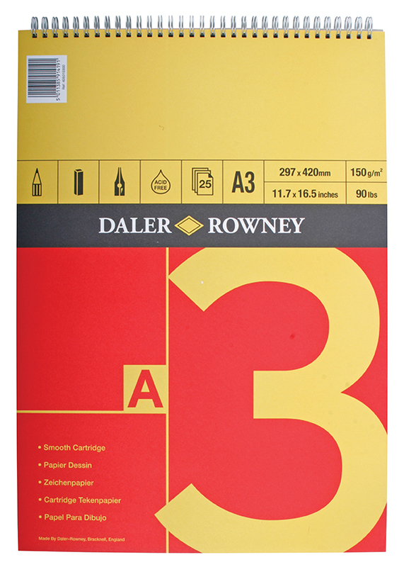 DR SERIES A SPIRAL PAD A3 150g RED/YELLOW