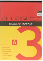 DR SERIES A RED/YELLOW GUMMED PAD A3 150gsm