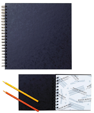 DALER EBONY SPIRAL 380X297mm BLACK PAPER SKETCH BOOK