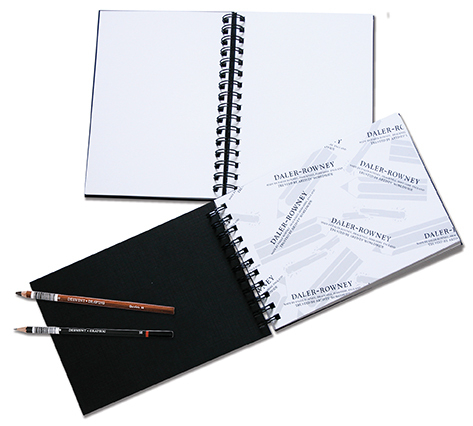 DALER EBONY SPIRAL SKETCH BOOK WHITE PAPER A4