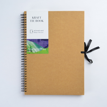BLUE ACORN TIE KRAFT BOOK A3 40pp 200g BROWN KRAFT PAPER