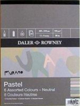 DR MURANO PASTEL PAD NEUTRAL COLOURS 12inch X 9inch