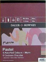 DR MURANO PASTEL PAD WARM COLOURS 12inch X 9inch