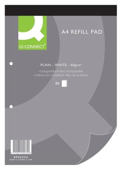 REFILL PAD - A4 LINED Q-CONNECT (80SHEETS 60GSM)