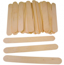 WOODEN JUMBO LOLLY STICKS 100
