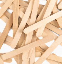 WOODEN LOLLY STICKS NATURAL FINISH BAG 150