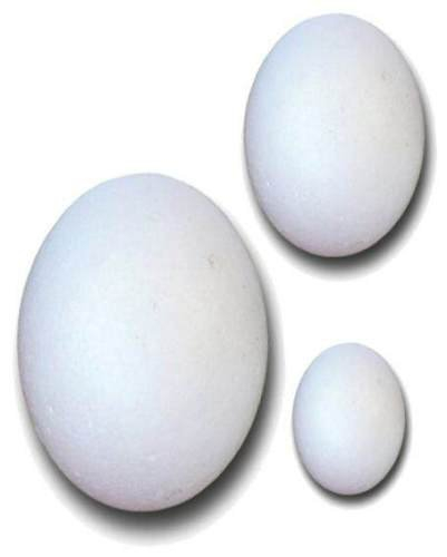 POLYSTYRENE EGGS 38,56,78mm 30 ASSORTED BAG