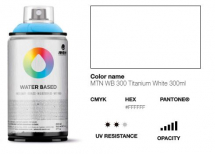 MONTANA WATER BASED 300ml TITANIUM WHITE R-9010