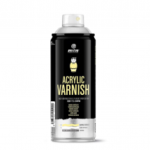 MONTANA PRO400ml ACRYLIC GLOSS SPRAY VARNISH
