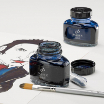 QUINK INK BLUE/BLACK PERMANENT 57cc 2oz