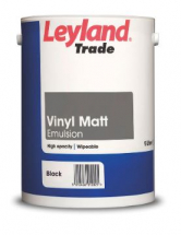 LEYLAND TRADE EMULSION BLACK 5l VINYL MATT