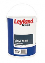 LEYLAND TRADE EMULSION VINYL MATT BRILLIANT WHITE 5l