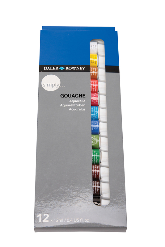 DR SIMPLY GOUACHE SET -12 X 12 ml