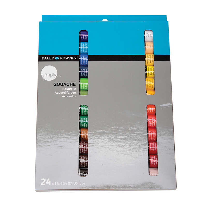 DALER SIMPLY GOUACHE SET - 24 X12ML TUBES