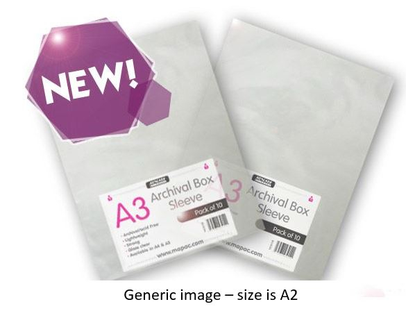 ARCHIVAL BOX SLEEVES A2 10'S 80micron
