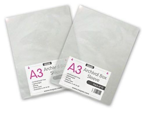 ARCHIVAL BOX SLEEVES A3 10'S 80micron