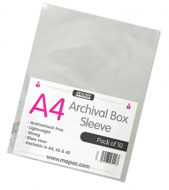 ARCHIVAL BOX SLEEVES A4 10'S 80micron