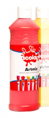 READY MIX 600ml BRILLIANT RED POSTER PAINT