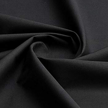 PLAIN COTTON BLACK 203cm metre