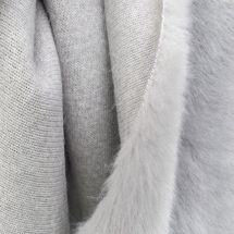 PLAIN FAKE FUR GREY PER METRE