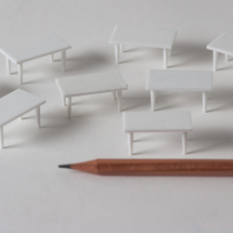 TABLES 1:50 SCALE PACK OF 10 RECTANGULAR 28mm x 16mm x 15mm