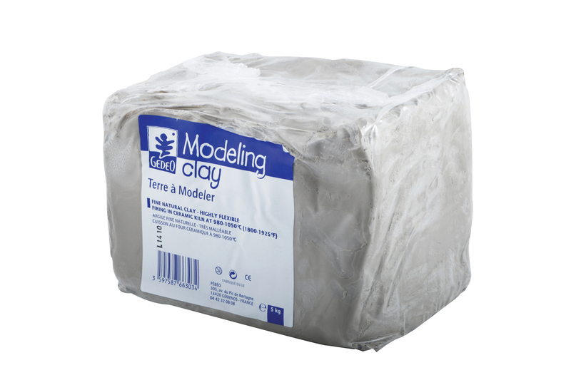 GEDEO MODELLING CLAY 5KG WHITE FINE