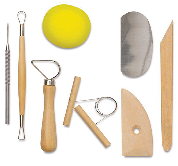 POTTERY TOOL KIT - 8 TOOLS CLAY MODELLING