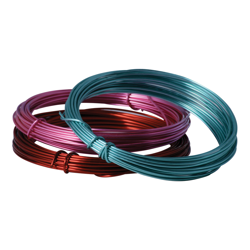 COLOURED CRAFT WIRE - 0.9mm x 5m - BRIGHT VIOLET