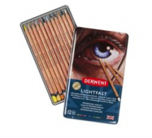 DERWENT LIGHTFAST PENCIL 12 TIN