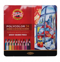 KOH-I-NOOR POLYCOLOR ARTIST 24 COLOURED PENCILS TIN
