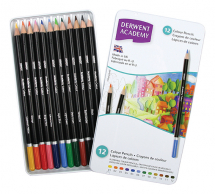 ACADEMY COLOUR PENCILS 12 TIN