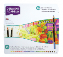 ACADEMY COLOUR PENCILS 24 TIN
