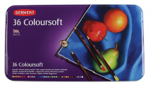 DERWENT COLOURSOFT PENCILS 36 TIN