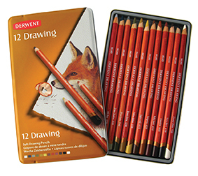 DERWENT DRAWING PENCIL TIN 12