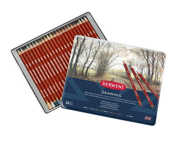 DERWENT DRAWING PENCIL TIN 24