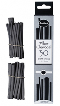 COATES CHARCOAL SHORT ASSORTED 30 STICKS