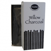 COATES CHARCOAL BUDGET PACK100 ASSORTED HALF LENGTHS